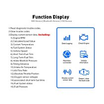 Car accessories ELM327 v1.5 OBD2 Car Diagnostic Tool ELM 327 Bluetooth code reader Scanner For Android/Symbian For OBD2 Protocol