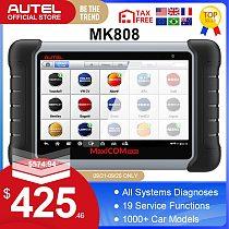Autel MaxiCOM MK808 OBD2 Scanner Automotivo Car Diagnostic Tool OBD 2 EScaner TPMS Code Reader OBDII Key Coding CRP 909X CRP909
