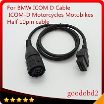 For BMW ICOM D Cable ICOM-D Motorcycles Motobikes 10 Pin Adaptor 10Pin To 16Pin OBD2 OBDII Diagnostic Cable I-COM A2 tool cables