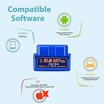 ELM327 V1.5 Bluetooth WIFI Adapter OBD2 Car Diagnostic Tool OBDII Code Reader OBD 2 Automotive Scanner ELM 327 V1.5 PIC18F25K80