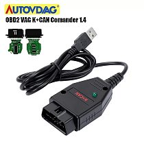 For VAG K+CAN Comander 1.4 For AUDI/for VW/Skoda Green PCB PIC18F258-1/S0 FTDI FT232RQ Chip VAG K+CAN 1.4 K-Line Commander Full
