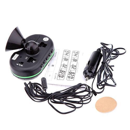 12V car digital thermometer voltmeter clock alarm clock monitor multi-function automatic instrument clock