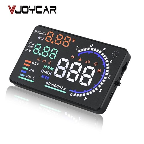 Fast Shipping! Windshield Projector A8 Car HUD Head Up Display Fuel Consumption Automobile OBDII Diagnostic Tool Car Speedometer