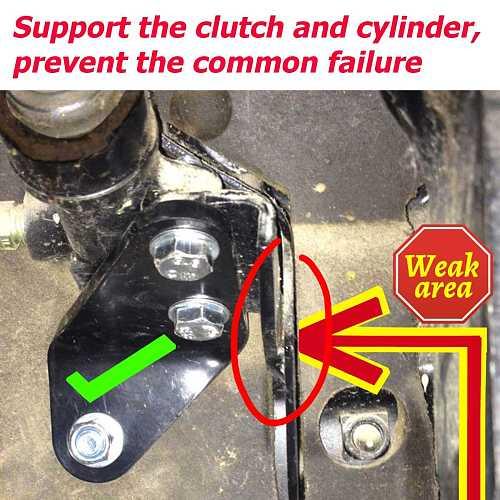 Car Clutch Pedal Repair Bracket Kit For Volkswagen T4 Transporter Caravelle Multivan Replacement