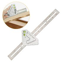 Multifunctional Triangular Ruler Woodworking Combination Square Angle Ruler Marking Tools M8617