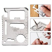 2 pcs Outdoor Multifunction Credit Card Knife Survival Camping Hunting Tactical Knife Utility Hand Tools Pocket Multitool Card