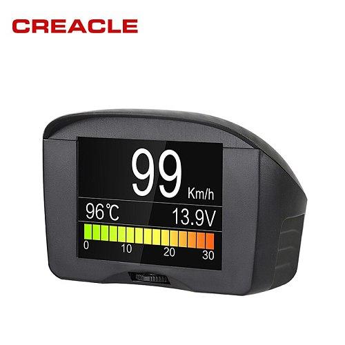 Autool X50 Plus Car OBD Smart Digital Meter Alarm Water Temperature Gauge Digital Voltage Speed Meter Display Multi-Function