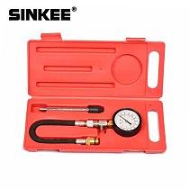 Pressure Gauge Flex Hose Compression Tester Cone Adapter 14mm 18mm w/Case