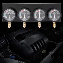 Motorcycle Fuel Pump Carburetor Vacuum Pressure Gauges Test Synchronous Balance Tool Positive Negative Pressure 4 Cylinder