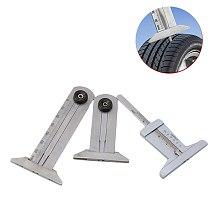 1pcs 30mm 50mm 60mm Metal Tire Pattern Vernier Groove Depth Gauge Measurement Tool Tire Pattern Safety Ruler