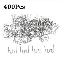 400pcs taples for Hot Stapler Plastic Repair Wave Staples Bumper Bodywork Repairs 0.8mm S Wave Staples