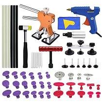 PDR Repair Tools Paintless Dent Repair Tool Dent Puller Kit Bridge Puller& Glue Gun for Automobile Body Motorcycle Refrigerator