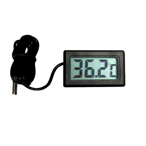 Pet Supplies Built In Probe Black Car Accessorizes Reptile Feeding Household Mini Portable LCD Display Digital Thermometer