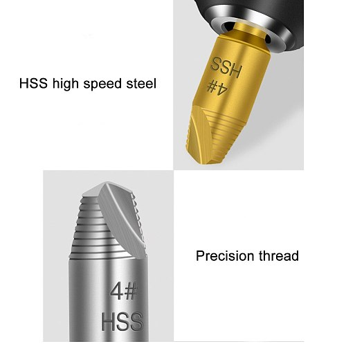 Speed Screws Out Extractor Drill Bits Tool Set Broken Damaged Bolts Remover for Woodworking  TD326