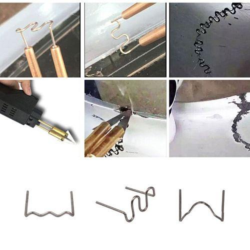 100 Pcs/Set Precut 0.6mm Wave Flat Hot Staples For Plastic Stapler Repair Welder E7CA