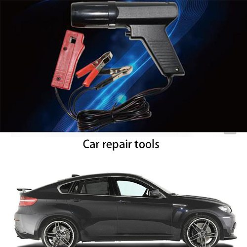 Car and motorcycle repair engine ignition timing gun diagnostic tool, ignition test, distribution gun, hand tool