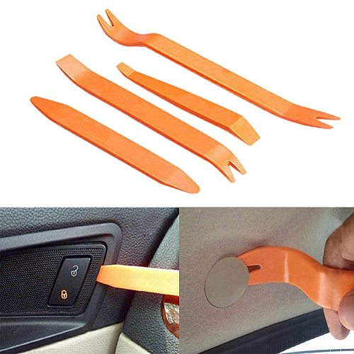 4Pcs/Set Plastic Car Radio Door Clip Panel Trim Dash Audio Removal Pry Tool Repairing