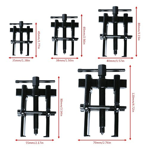 35X45 38x65 40x80 55X90 70x120 Type Black Plated Two Jaws Gear Puller Armature Bearing extractor stripper Puller Forging