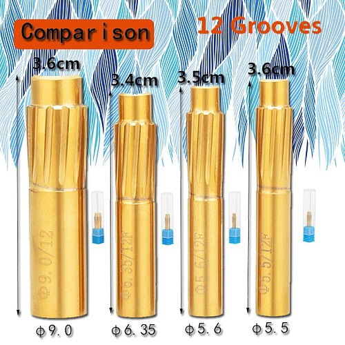 12 Flutes Rifling Button 5.5mm 5.6mm 6.35mm 9.0mm Hard Alloy Chamber Helical Machine Reamer Break Durable Tool Accessories