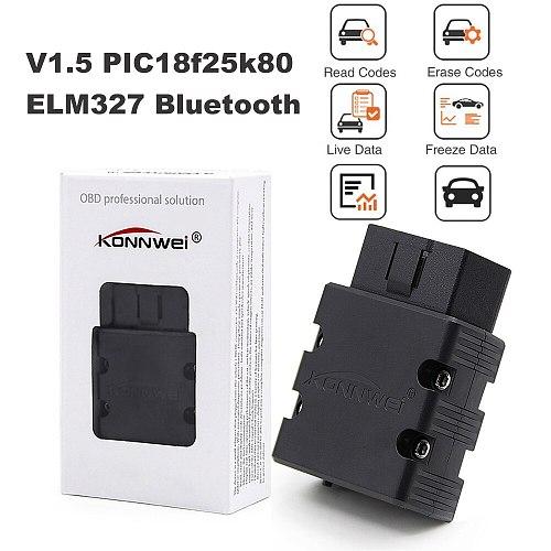 Diesel Gasoline Car Scanner V1.5 ELM327 OBD2 Bluetooth For Mazda Subaru Cadillac Infiniti Lincoln Code Reading Diagnostic Tools