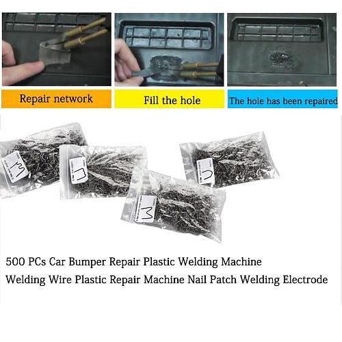 500 PCs Car Bumper Repair Plastic Welding Machine Welding Wire Plastic Repair Machine Nail Patch Welding Electrode Super Welding