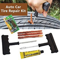 Car Tire Repair Tools Tubeless Tyre Car Puncture Repair Plug Kit Needle Patch Fix Tool Auto Useful Sets Car Auto Tire Repair