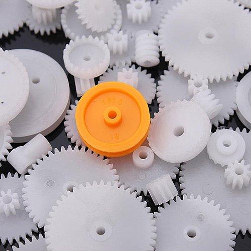 75 Type Plastic Crown Gear Single Double Reduction Gear Worm Gear