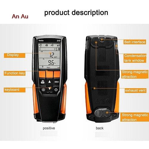 Testo 310 flue gas analyzer Measuring Range 0 to 4000 ppm Testo 310 Flue Gas Combustion Analyzer O2 CO CO2 without Printer