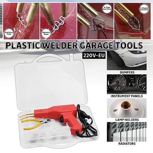 OLOMM Handy Plastic Welder Garage Tools Hot Staplers Machine Staple PVC Plastic Repairing Machine Hot Stapler Car Bumper Repair