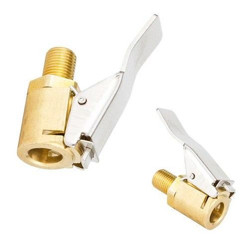 Brass 8mm Adaptor Car Auto Tyre Wheel Tire Air Chuck Inflator Pump Valve Clip Clamp Connector Adapter Tire Repair Tools Accessor