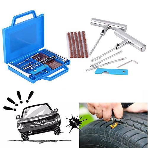 Car Vehicle Motorbike Wheel Tire Repair Tools Set Fix Kit Mending Accessories