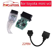 OBD2 Car Diagnostic tool MINI VCI V14.20.019 For Toyota/ TIS Techstream OBD2 USB Cable With OBD Fit for Toyota 22PIN to 16PIn