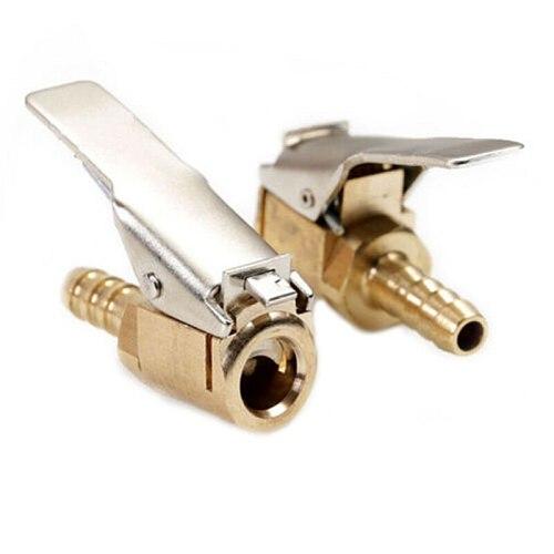 1 Pcs 6mm 8mm Hose Barb Clip-On Ball Foot Air Chuck Open Brass Stem Tire / Tyre Inflator Gauge Fitting Tire Repair Tools