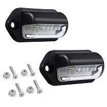 Number Plate Lights Led License Plate Light Rear Lamps Universal 12v 24v For Car Trailer Vehicle Truck Ute Van Caravan Lorry Boa