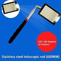 Telescoping Flexible Inspection Mirror with Bright LED Lighting 360 Swivel for Extra Viewing Portable Automotive Tool Hot Sale
