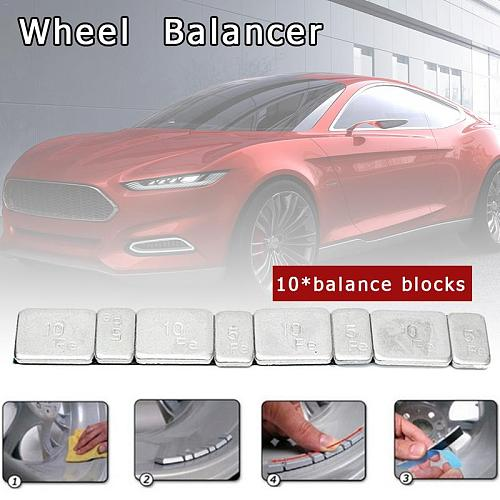 10pcs Universal Wheel Balance Weight Car Tire Adhesive Tire Balance Block Wheel Iron Tyre Balancer For Cars RC Boat Motorcycle