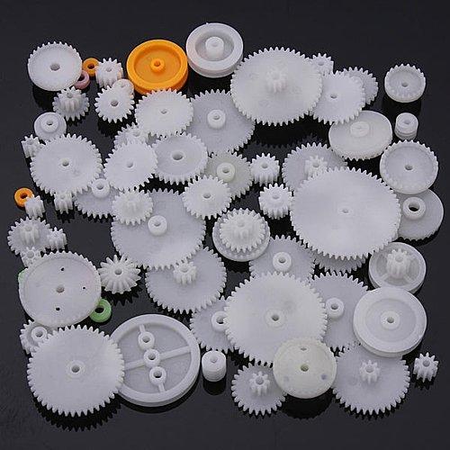 64 Type Plastic Crown Gear Single Double Reduction Motor Gear Worm Gear