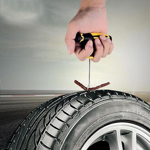Car Vacuum Tire Repair Tools Car Tire Repair Kits Strip Fast Glue Liquid Professional Portable Compact