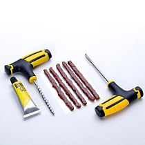 12pcs/set Universal Car Tire Repair Tools Auto Motorcycle Tubeless Vacuum Tires Repairing Hand Tool Kits Patch Car Accessories