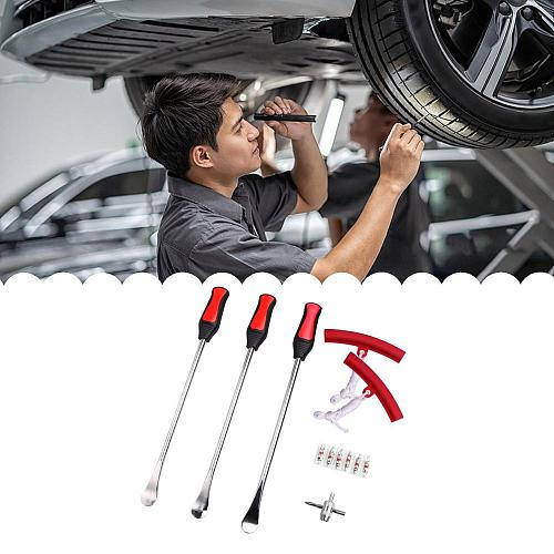 15 Inch Multi-Function Tire Crowbar Tire Removal Lever Valve Needle Tyre Protector Tire Repair Tools