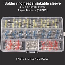 50Pcs /100Pc Waterproof Seal Heat Shrink Solder Wire Connector Shrinkage Solder Sleeve Tube For Motorcycle Car Cable Connect New