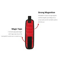 1PC Tool Bag Strong Magnetic Wrist Band Wristband Tool Bag Tray Belt Wrist Holding Helper Tire Repair Tools