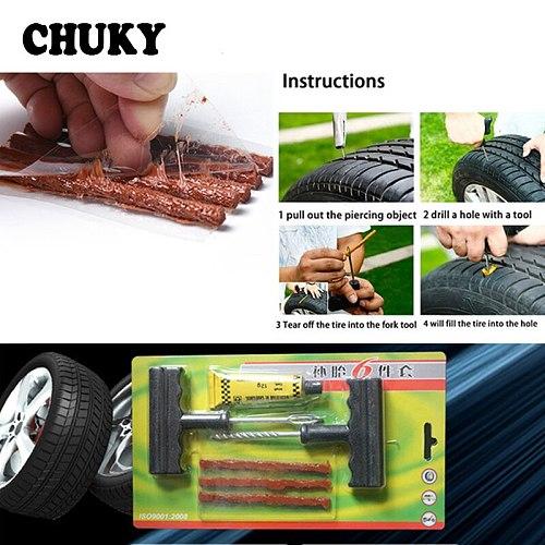 CHUKY 1Set Professional Auto Car Tire Repair Tools Kit For Skoda Octavia A7 A5 Rapid Fabia Superb Land Rover Volvo S60 s90 xc90
