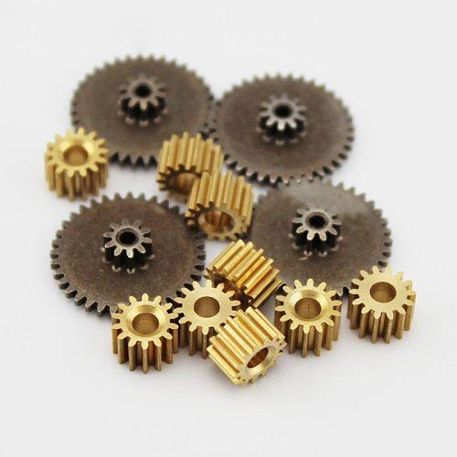 metal gears 0.5 modulus brass reduction gears