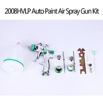A2020 New 2008HVLP Auto Paint Air Spray Gun Kit Gravity Feed Car Primer 1.4MM~2.0MM Nozzle Car Paint Tool Body Repair Tool