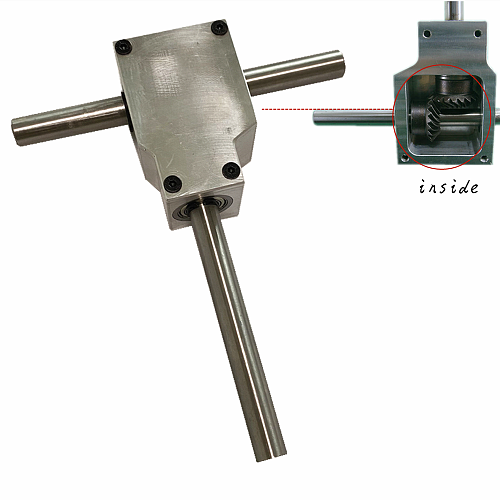 1:1 90° Reversing angle device Spiral bevel gearbox Reducer assembly Small reducer assembly Dual-shaft 8MM/10MM