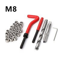 30Pcs M8 Thread Repair Insert Kit Auto Repair Hand Tool Set For Car Repairing Automobiles Sheet Metal Tools Set car body repair