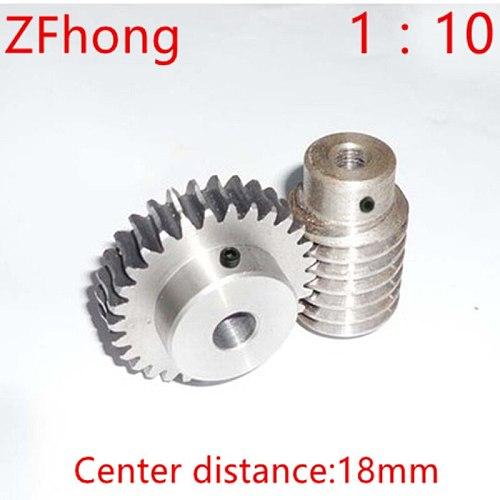 1M-20Teeths ratio:1:10 Electric Motors steel Worm Gear Rod Set  worm gear hole 8mm, rod hole 8mm