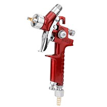AWine Red Car Mini Manual Spray Paint Gun With 1.0mm Nozzle Capacity 125ml Car Paint Tool High Atomization Low Pressure Nozzle