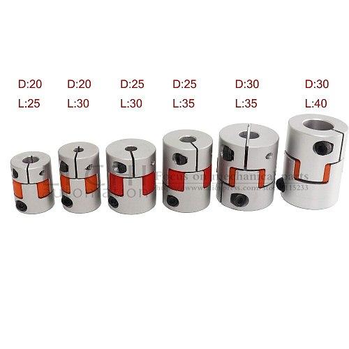 Free shipping Flexible plum clamp coupler D30 L40 shaft  size 6.35/7/8/10/12/12.7/14/15/16mm CNC Jaw shaft coupling